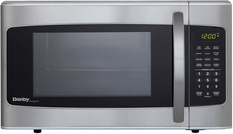 1.1-cu ft 1000W Microwave, Stainless Steel