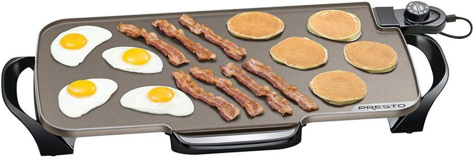 Presto 07062 Ceramic 22-inch Electric Griddle with removable handles