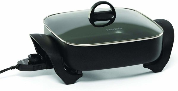 West Bend 72212 Electric Extra-Deep Square 12-Inch Nonstick Skillet