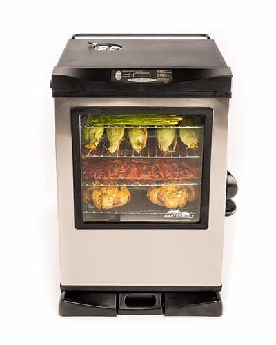 Master built 20077515 Front Controller Electric Smoker with Window and RF Controller, 30-Inch