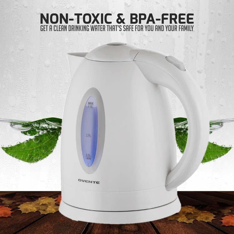 Ovente KP72W 1.7L BPA-Free Electric Kettle