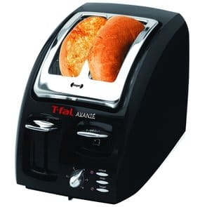 T-fal 874600 Classic Avante 2-Slice Toaster with Bagel Function, Black Color