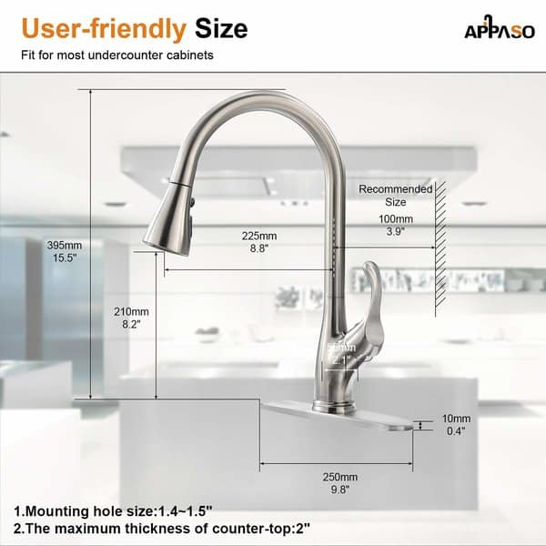 APPASO Pull Down Kitchen Faucet