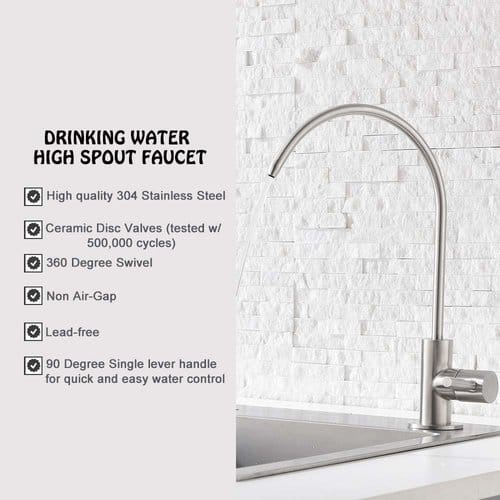 Ufaucet Modern Best Stainless Steel Brushed Nickel Kitchen Bar Sink Drinking Water Purifier Faucet
