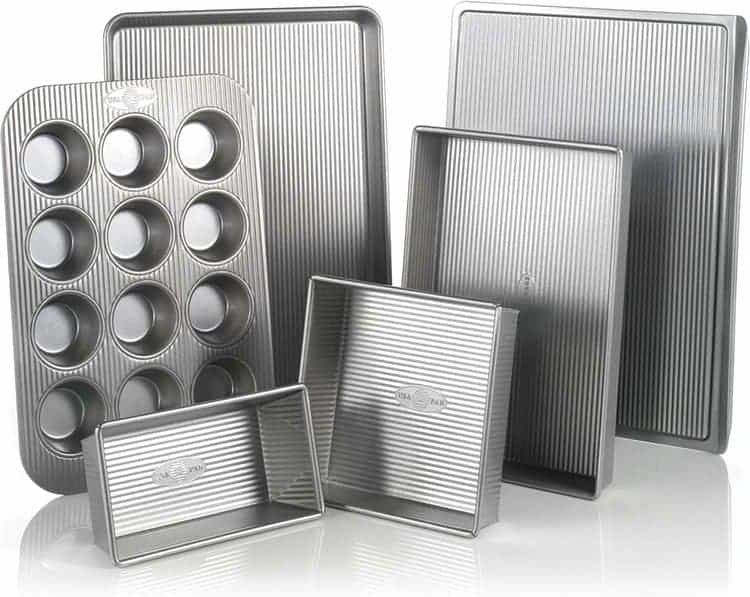 USA Pan Bakeware Aluminized Steel 6 Pieces Set