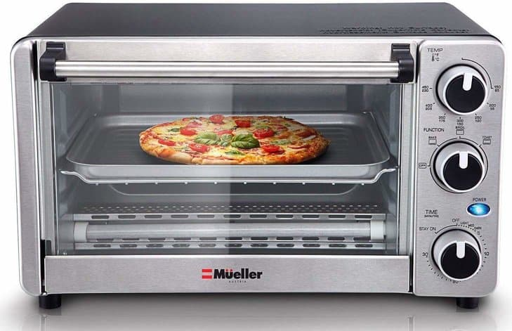 Toaster Oven 4 Slice Multi-function Stainless Steel
