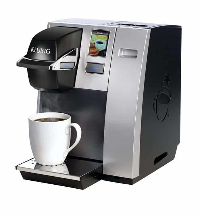 Keurig K150 Single Cup Commercial K-Cup Pod Coffee Maker, Silver Color (Direct Plumb Kit Not Included)