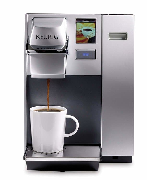 Keurig K155 Office Pro Single Cup Commercial K-Cup Pod Coffee Maker, Silver Color