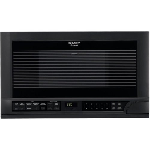 Sharp R-1210 1-1/2-Cubic-Foot 1100-Watt Over-the-Counter Microwave