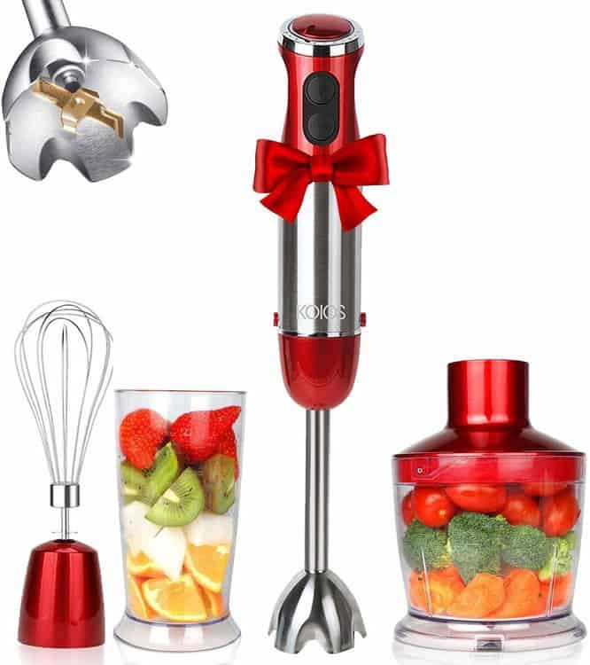 KOIOS Multi-Use 800W 4-in-1 Immersion Hand Blender