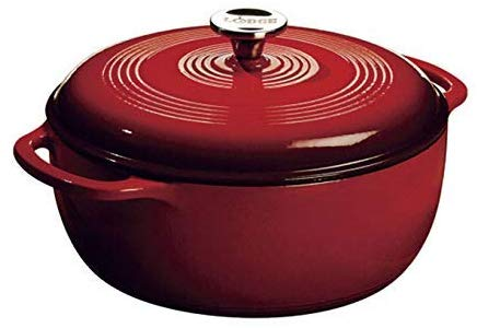 Lodge 6 Quart Enameled Cast Iron Dutch Oven