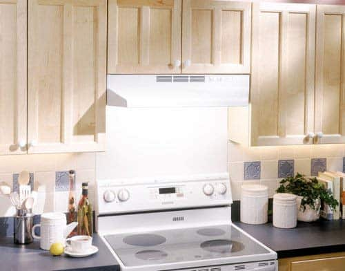 Broan-NuTone White Broan 413001 ADA Capable Non-Ducted Under-Cabinet Range Hood