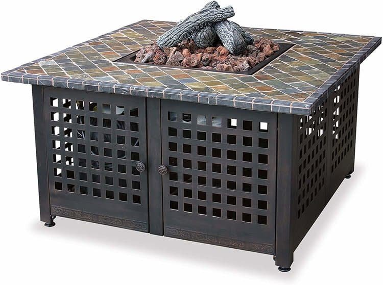 Endless Summer GAD860SP LP Gas Outdoor Firebowl with Slate - Marble Mantel