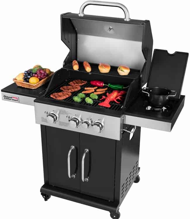 Royal Gourmet GG3201S Cabinet Liquid Propane Gas Grill with Side Burner