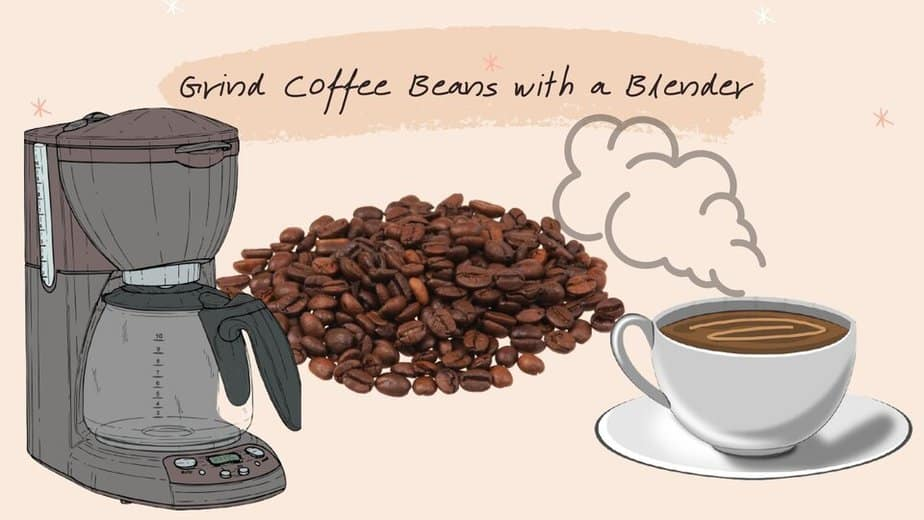 grind coffee beans with a blender
